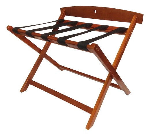 H1S Contemporary Wood Rack w/Backrest, Light Mahogany - (2 Racks Per Case)