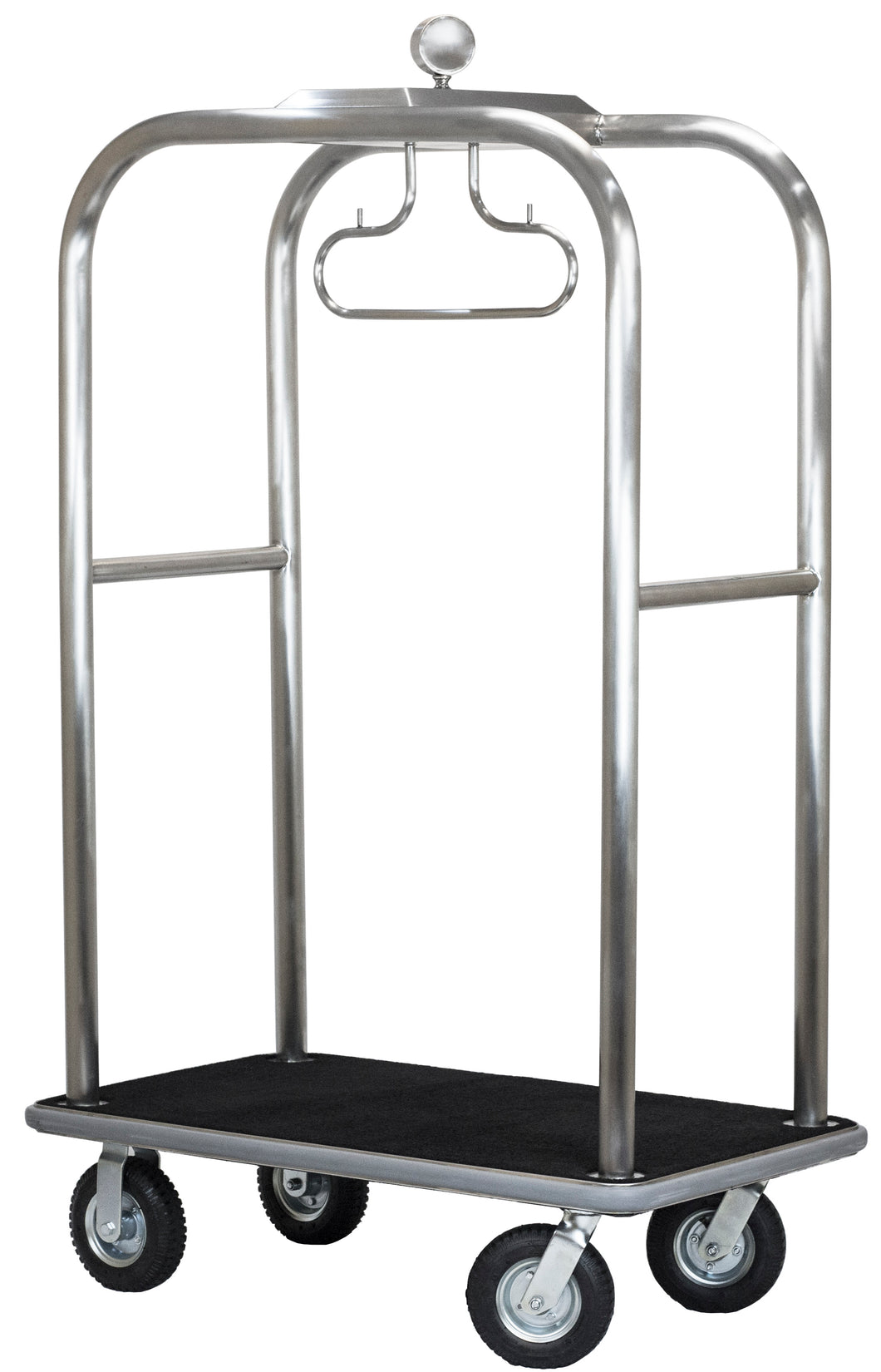 H1S Boardwalk Series Bellman's Cart - Brushed Stainless Steel