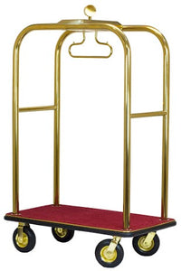 H1S Boardwalk Series Bellman's Cart (Stainless or Gold Tone)**