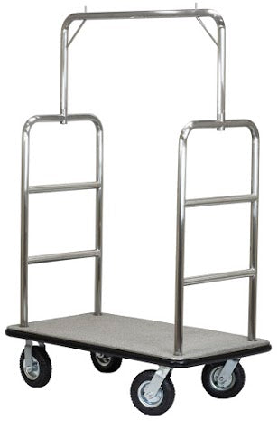 H1S Midtown Series Bellman's Cart / Brushed Stainless Steel
