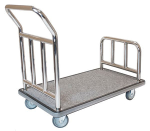 "H1S Utility Cart - Stainless Steel/Grey Carpet - 5"" Wheels**"