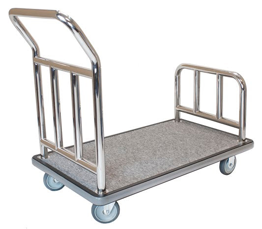 H1S Utility Cart - Stainless Steel/Grey Carpet - 5