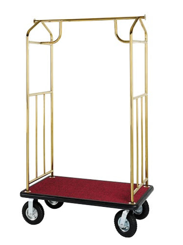H1S Brass Plated Bellman's Cart