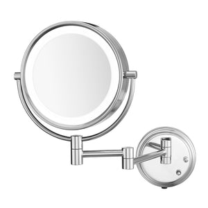 "Conair® BE6BLEDCWH Two-Sided 8.5"" LED Lighted Wall-Mount Mirror, Chrome - 4 Per Case"