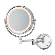 "Load image into Gallery viewer, Conair® BE6BLEDCWH Two-Sided 8.5"" LED Lighted Wall-Mount Mirror, Chrome - 4 Per Case"