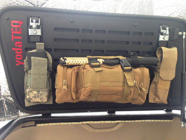 Molle Panels on the Gull Wing Hatch System on the Land Cruiser 80 Series FJ80 FzJ80 Lexus LX450