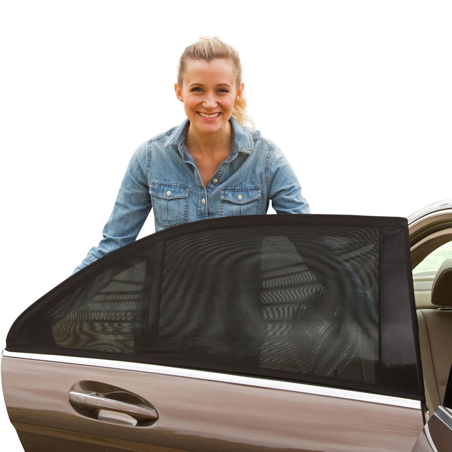 Car Slip On Window Shades (4 Pcs for all 4 windows)