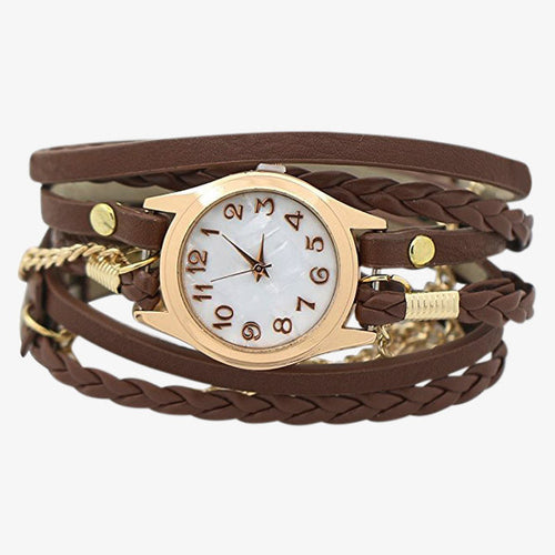 Multilayer Vintage Women's Wristwatch