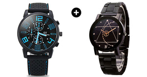Geometric Gear Watch and GT Sports Military Watch - Buy One Get One Free