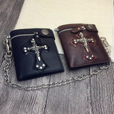 Luxury Vintage Skull Cross Rivet Multi Purpose Bag Phone Case or Trendy Wallet