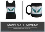 Angels All Around Black  Women's Tank Top