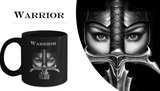 Warrior in Full Armor White Coffee Mug
