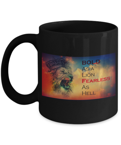Fearless As Hell 11 Ounce Beverage Coffee Mug