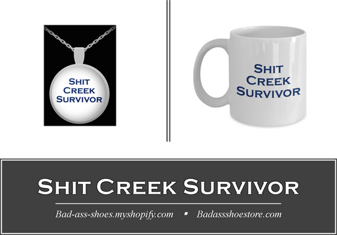 Shit Creek Survivor Pendant and Coffee Mug Set