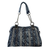 Designer Ladies Leisure Tote  Denim Rivet Handbag