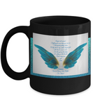 Angels All Around Black Coffee Mug - Bad Ass Shoes