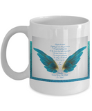 Angels All Around 11 Ounce  Black Coffee Mug