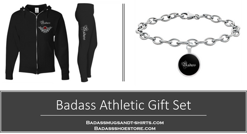 Badass Black Athletic Set with Free Matching Bracelet - Sizes S - XXXL