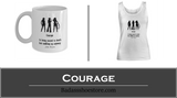 Courage White Tank Top in Sizes S - XXXL