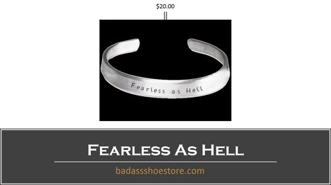 Our Custom Line Women's Fearless As Hell Cuff Bracelet