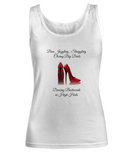 Dancing Backwards In High Heels White Tank Top