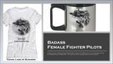 Female Fighter Pilots Taking Care of Business T-Shirt & Mug Set