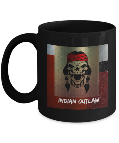 Indian Outlaw Black Coffee Mug - Bad Ass Shoes