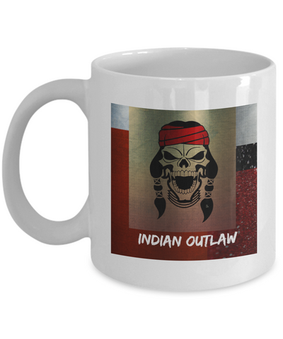 Indian Outlaw White Coffee Mug - Bad Ass Shoes