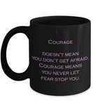 Courage 11 oz Coffee Mug - Bad Ass Shoes
