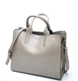Women's leather briefcase style handbag