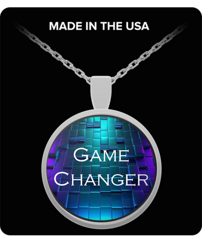 Bad Ass Custom Line Game Changer Round Stainless Pendant Necklace - Bad Ass Shoes
