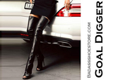 Goal Digger Hot Selling Open Toe Black Leather Thigh High Boots