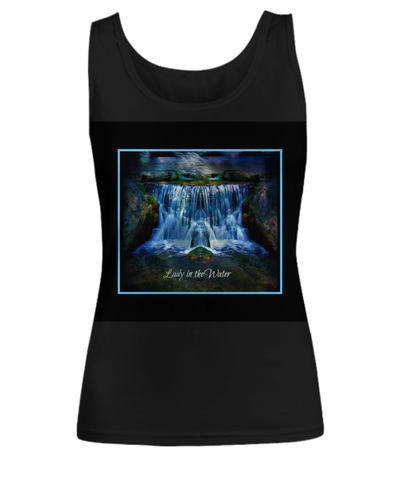 Lady In The Water Black Women's Tank - Bad Ass Shoes
