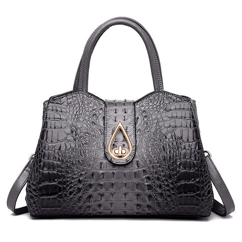 Luxury Fashion Alligator Leather Tote Shoulder Handbag Satchel