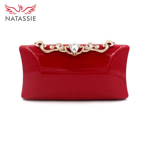 NATASSIE Women Wedding Clutch Purses Ladies Evening Clutch Bag Female Party Clutches - Bad Ass Shoes