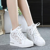 Summer Hidden Wedge Heels Shoes Fashion  Elevator Shoes Casual Shoes For  wedge heel Rhinestone Shoes - Bad Ass Shoes
