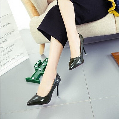 HEVXM Spring new 6-color women's fashion sexy high-heeled shoes pointed foot with the work shoes size 33-40 with high 11CM pumps - Bad Ass Shoes