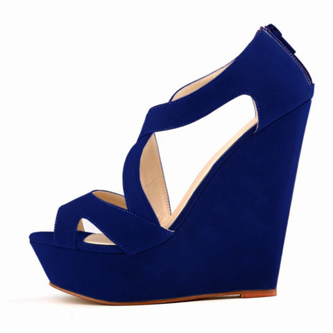 women ladies high heels platform women court casual pumps wedding ankle boots shoes Blue - Bad Ass Shoes
