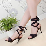 Sandalias Mujer Gladiator Sandals Women Plus Size 34-43 Shoes Women Sandals 2017 High Heels Sapato Feminino Summer Style H-2 - Bad Ass Shoes