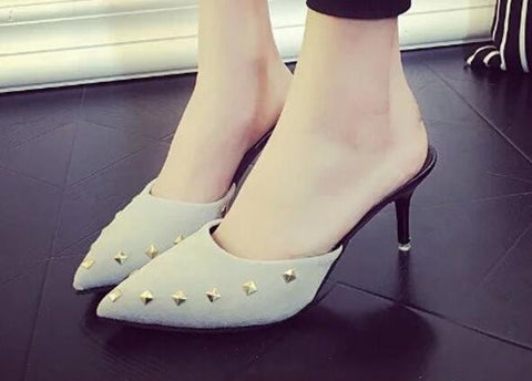 High Fashion Mules Slip On Beautiful Heels - Bad Ass Shoes
