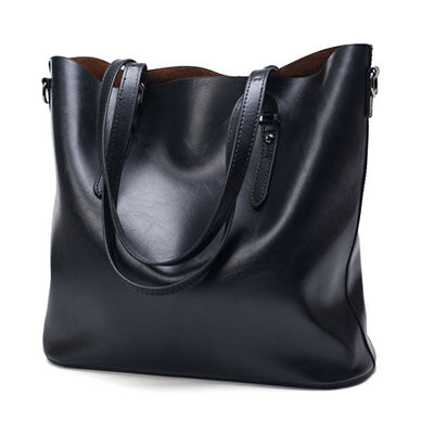 Fashion Women Handbag PU Oil Wax Leather Women Bag Large Capacity Tote Bag Big Ladies Shoulder Bags Famous Brand Bolsas Feminina - Bad Ass Shoes