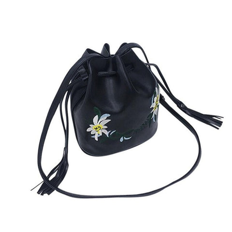 Tassels Bucket Bag Women's Messenger Small Leather Handbag - Bad Ass Shoes