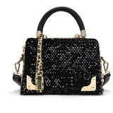 Handbags Trunk SocialiteWomen Sequin Leopard Messenger Totes Women Handbags Solid Zipper Versatile Designer Bag sacoche homme - Bad Ass Shoes
