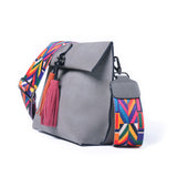 Vintage Tassel Women Shoulder Bags with Colorful Strap