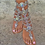 Luxury Rhinestone Flat Bohemia Sexy Summer Sandals
