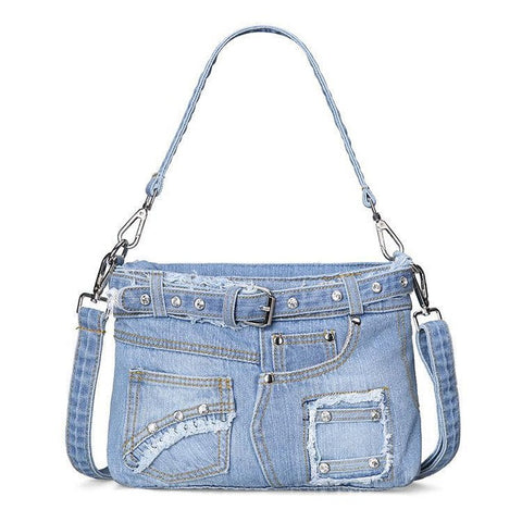 Casual Fashion  Denim Women Bag Lady Handbags Jeans Totes Women Shoulder Bags Women's Tote Bag Cowboy Bags - Bad Ass Shoes