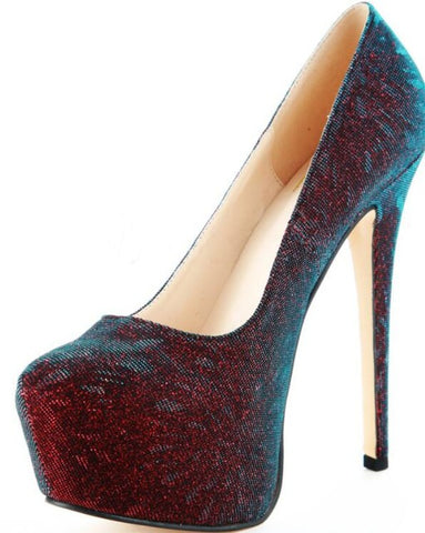 Stylish Round Toe Platform Pumps with High Heels - Bad Ass Shoes
