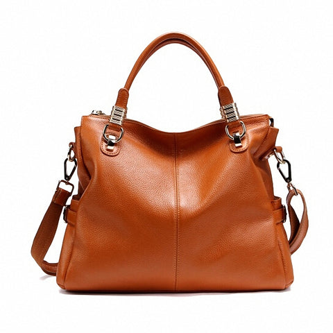Guaranteed 100% Natural Genuine Leather Women Handbag First Layer Of Cowhide Tote Fashion Women Messenger Bags  PT10 - Bad Ass Shoes