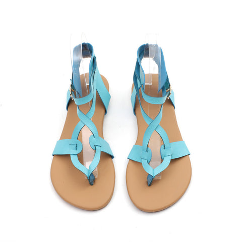 Women Summer Round Toe Breathable Lace-Up Beach Sandals Rome Casual Flat Shoes