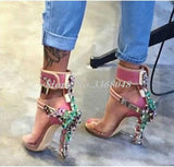 Women's Designer Jeweled Gladiator High Heel Sandals